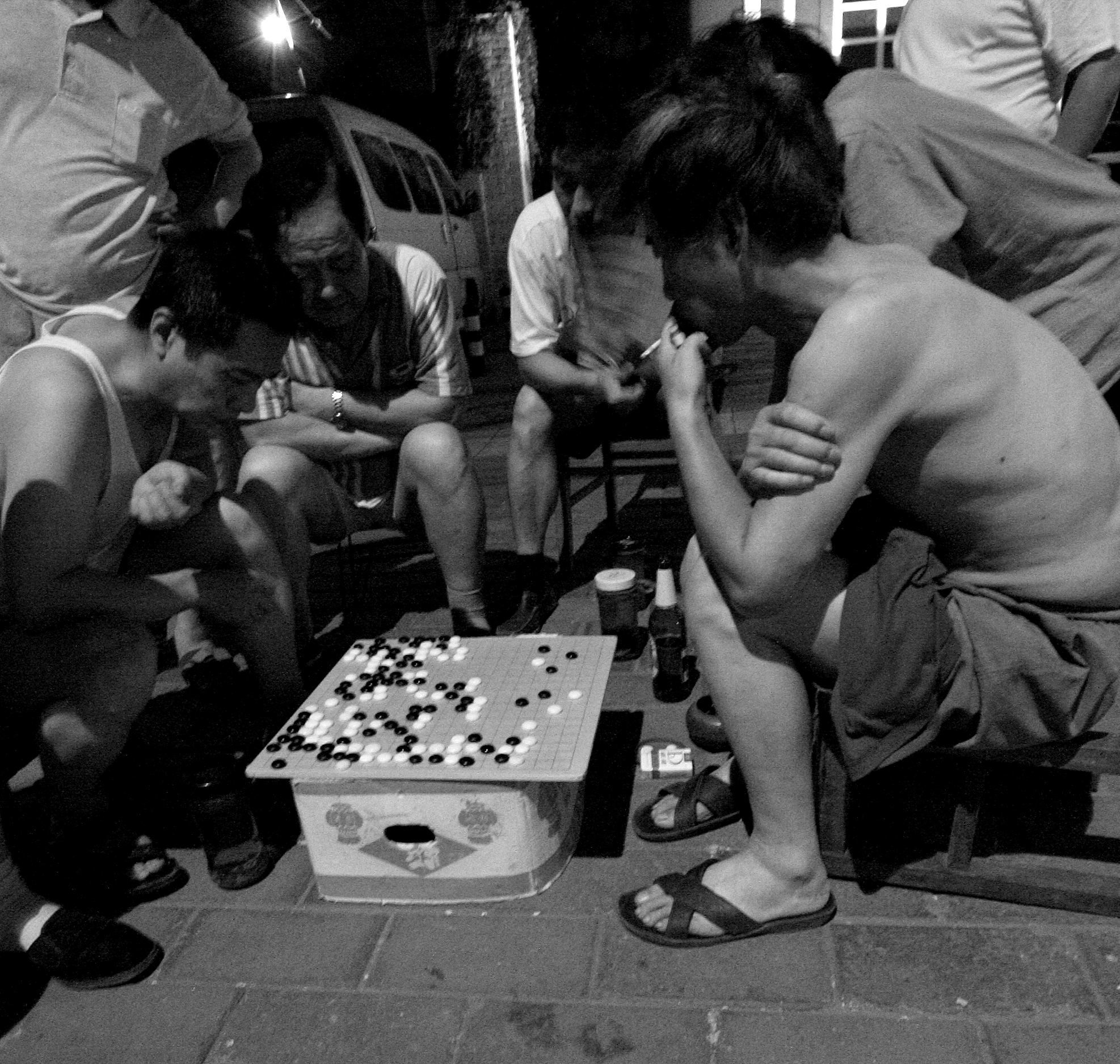 guys playing go
